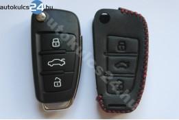 Audi 3 obal vystřelovacího klíče s tlačítkem kožená pouzdra