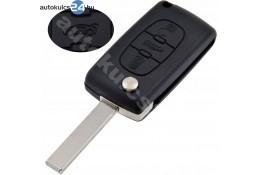 Citroen 3 obal vystřelovacího klíče s tlačítkem HU83 #2