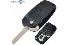Fiat 2 obal vystřelovacího klíče s tlačítkem černá boční baterie