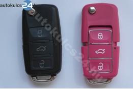 Volkswagen 3 obal vystřelovacího klíče s tlačítkem vodotěsný růžový