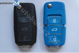Volkswagen 3 obal vystřelovacího klíče s tlačítkem vodotěsný modrý
