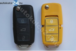 Volkswagen 3 obal vystřelovacího klíče s tlačítkem vodotěsný žlutý