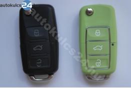 Volkswagen 3 obal vystřelovacího klíče s tlačítkem vodotěsný zelená