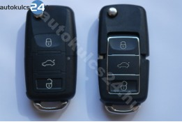 Volkswagen 3 obal vystřelovacího klíče s tlačítkem vodotěsný černá
